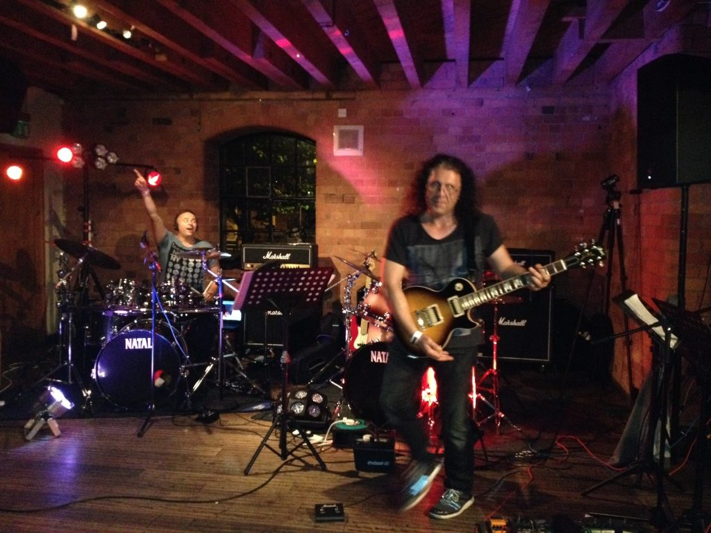 On stage with guitarist legend, David Buckley