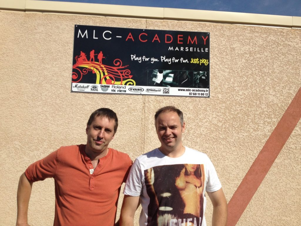 Rob Hirons and Paul Hose at MLC-Academy Marseille