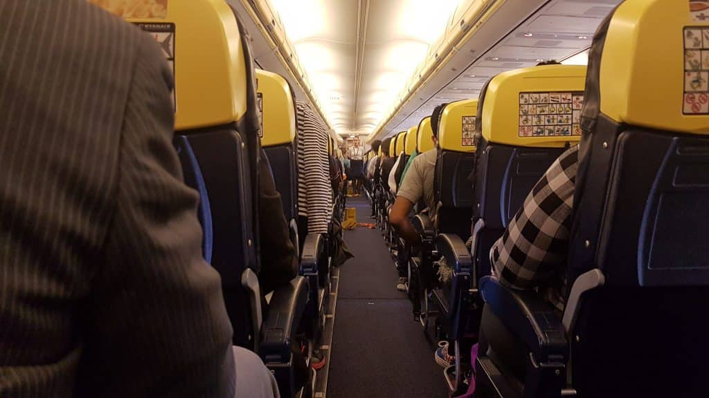 Ryanair flight to Milan