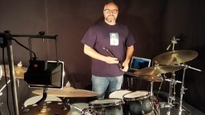 Filming for robhironsdrums.com